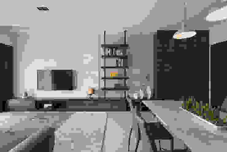 Salas de estar modernas por 寬宸室內設計有限公司 Moderno
