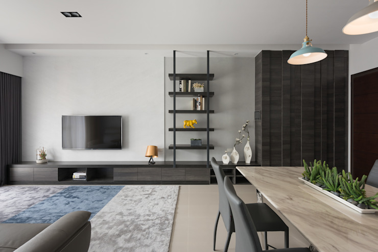 Salas modernas de 寬宸室內設計有限公司 Moderno