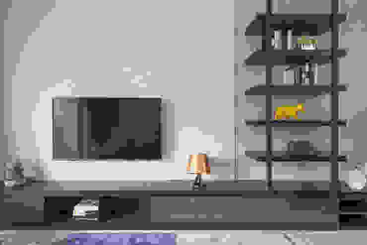 寬宸室內設計有限公司 ห้องนั่งเล่น Grey