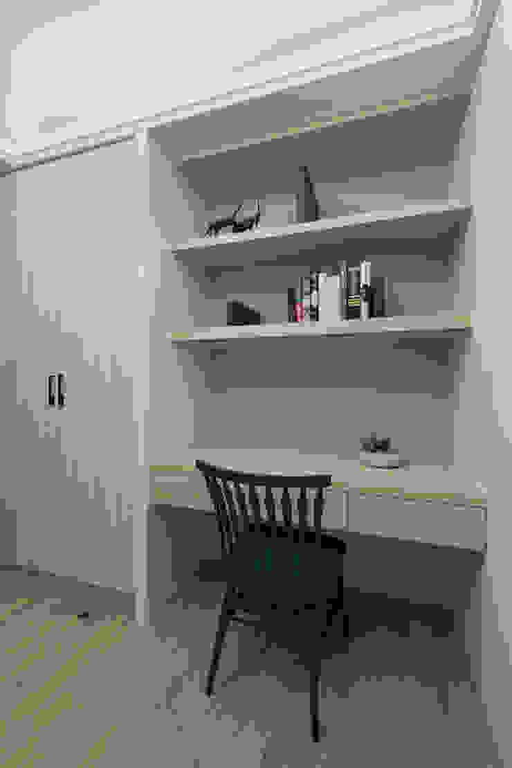 寬宸室內設計有限公司 ห้องทำงาน/อ่านหนังสือ Grey