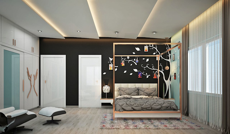 Girl's Bedroom View 2 by Inside Element