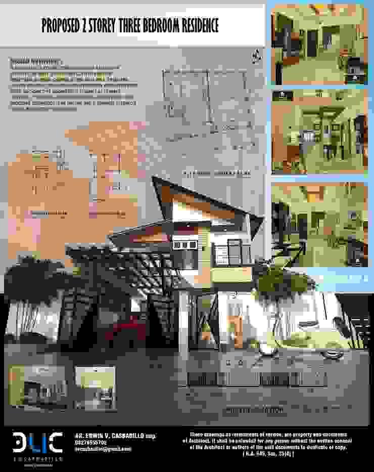 Proposed 3 Bedroom Townhouse E.V.Casbadillo Arquitectura Townhouse Copper/Bronze/Brass Multicolored