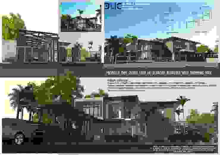Proposed 4bedroom Villa with swimming pool by E.V.Casbadillo Arquitectura Modern Concrete
