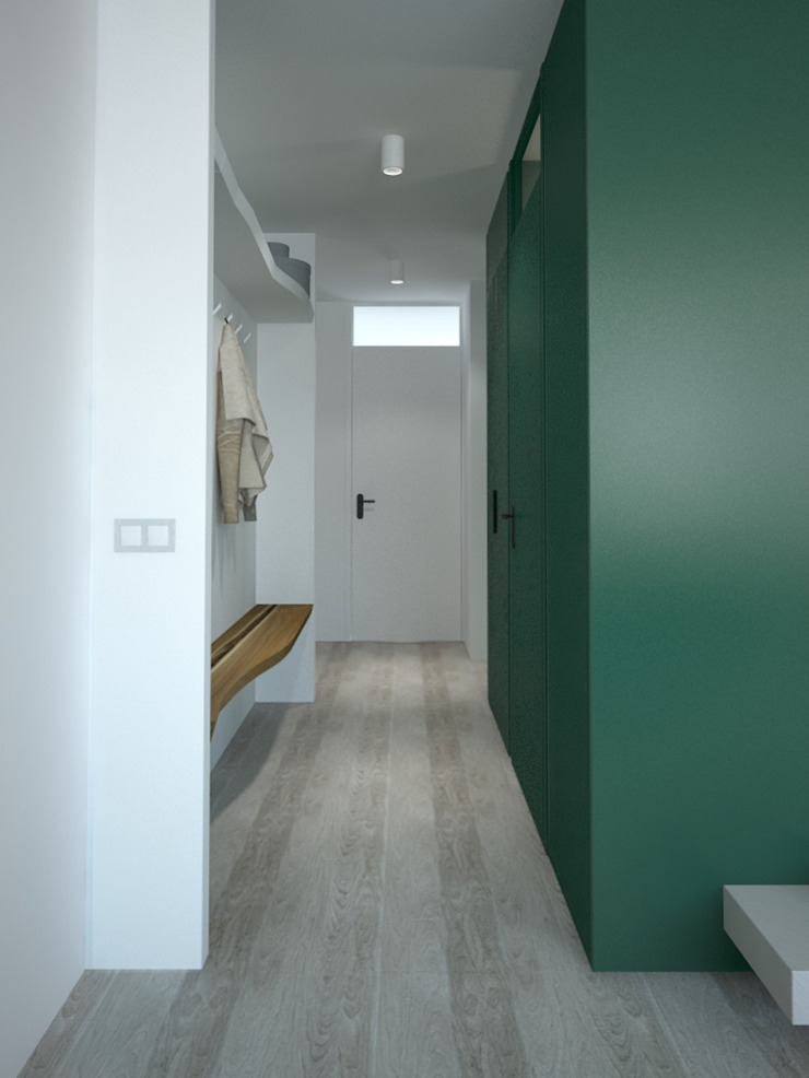 "<q class=""-first"">Forest retreat</q> for a bachelor in Indische Buurt | Amsterdam Moderne gangen, hallen & trappenhuizen van Lily Orlova Modern"