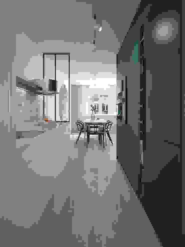 """Forest retreat"" for a bachelor in Indische Buurt | Amsterdam Moderne keukens van Lily Orlova Modern"
