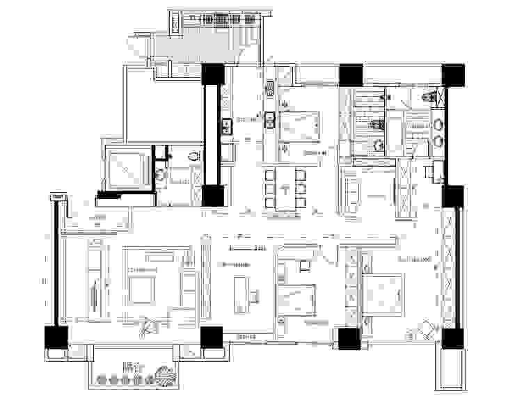 平面圖分享 根據 台中室內設計-築采設計
