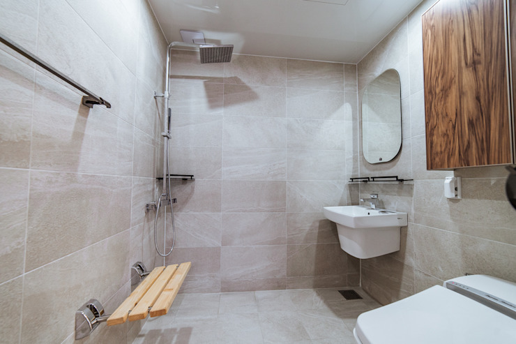 AAPA건축사사무소 Modern style bathrooms