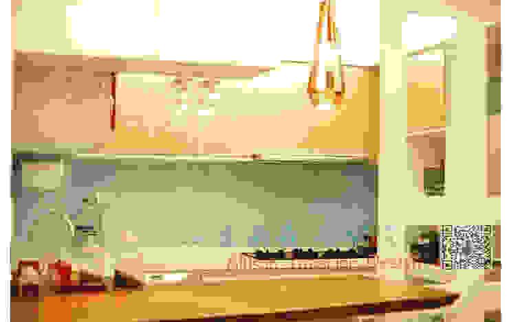 廚房 實木檯面 吊燈 根據 艾莉森 空間設計 現代風 實木 Multicolored