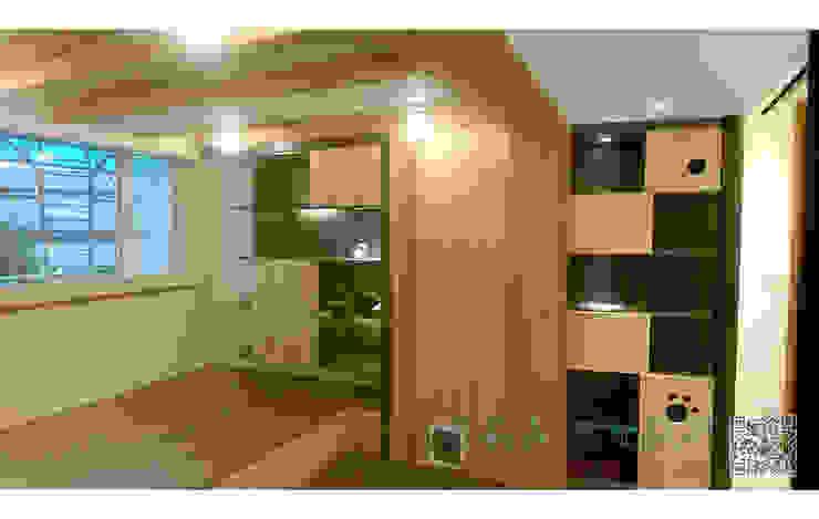 休憩空間 展示櫃 kd木地板 根據 艾莉森 空間設計 現代風 實木 Multicolored