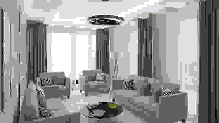 Villa - İç Mekan Modern Oturma Odası Dündar Design - Mimari Görselleştirme Modern