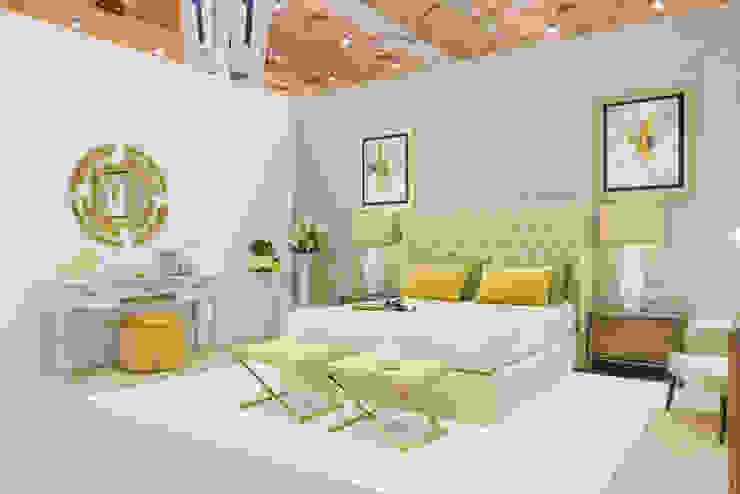 TRENDS INTERIOR DESIGN Quartos ecléticos Amarelo