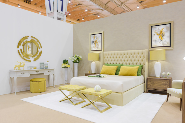 TRENDS INTERIOR DESIGN Eclectic style bedroom Yellow