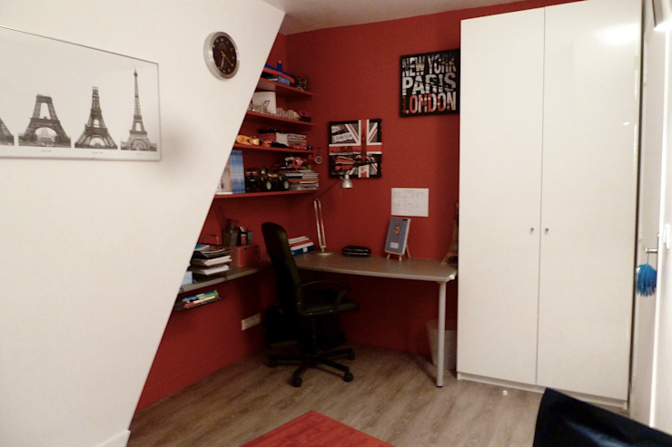 bureau chambre Desjoconception Locaux commerciaux & Magasin modernes Rouge