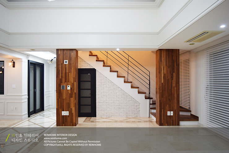 하남시 덕풍동 제일풍경채 50평 모던스타일 거실 by 리인홈인테리어디자인스튜디오 모던
