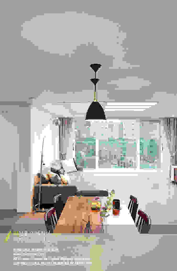 경남 양산시 양우내안에 3차 33평 모던스타일 다이닝 룸 by 리인홈인테리어디자인스튜디오 모던