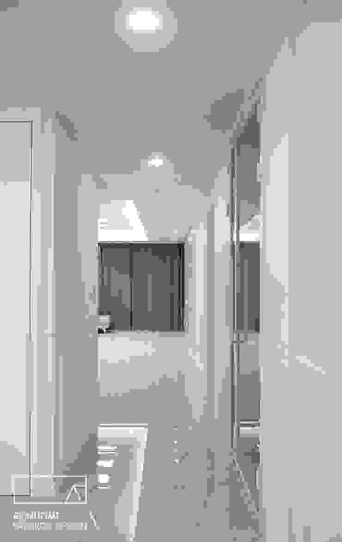 하남 유니온시티 에일린의뜰 C타입 34평 모던스타일 복도, 현관 & 계단 by 리인홈인테리어디자인스튜디오 모던
