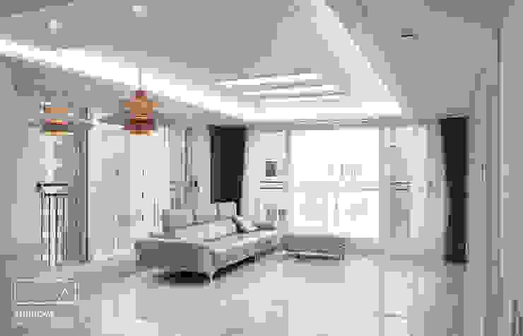 하남 유니온시티 에일린의뜰 C타입 34평: 리인홈인테리어디자인스튜디오의  거실,
