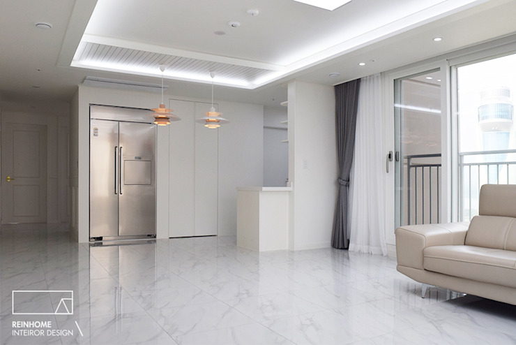 하남 유니온시티 에일린의뜰 C타입 34평 모던스타일 거실 by 리인홈인테리어디자인스튜디오 모던