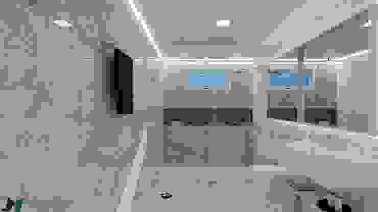 Banheiro Minimalista por ITOARQUITETURA Minimalista Mármore