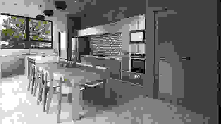 Mouret Arquitectura 置入式廚房