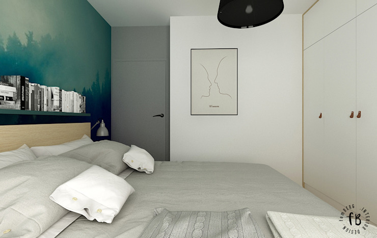 Femberg Architektura Wnętrz Modern Bedroom Green