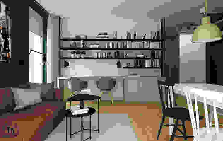 Femberg Architektura Wnętrz Modern Living Room Grey