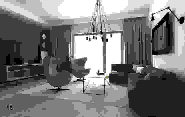 Femberg Architektura Wnętrz Modern Living Room Green