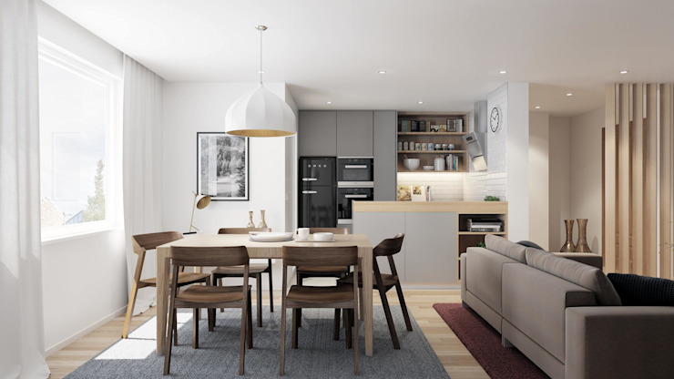 Modern Dining Room by JCArchviz Modern Wood Wood effect