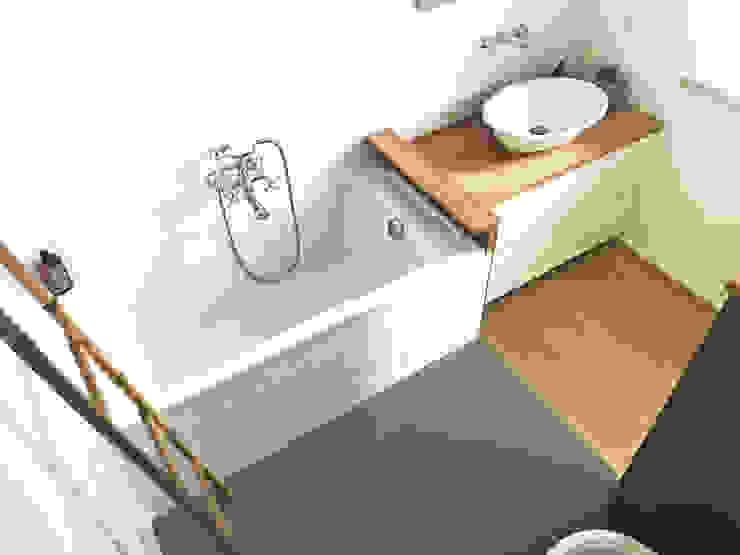 Rustic style bathroom by Architetto Luigi Pizzuti Rustic