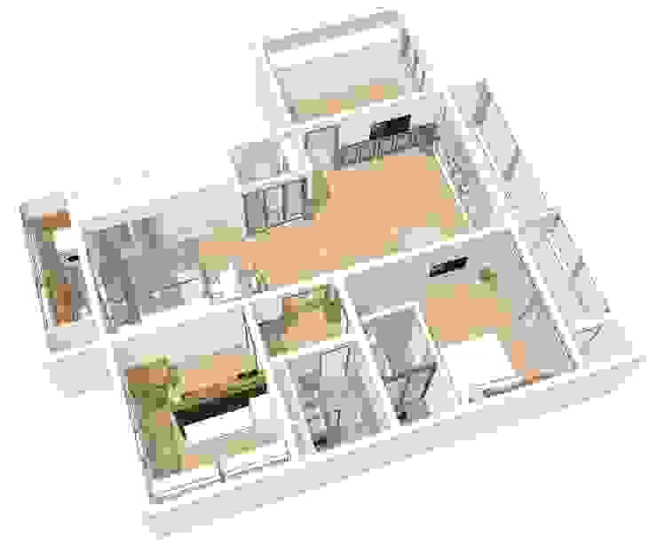 투시도 01: 덴보드의 현대 ,모던