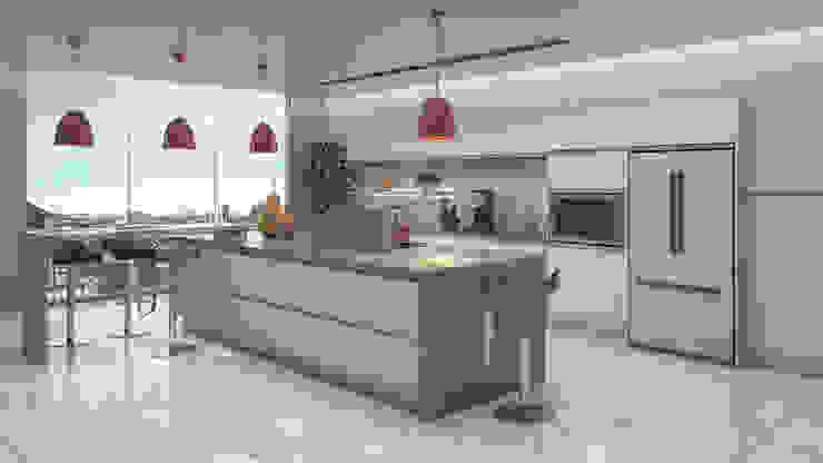 Cucina minimalista di Gabriela Afonso Minimalista Marmo