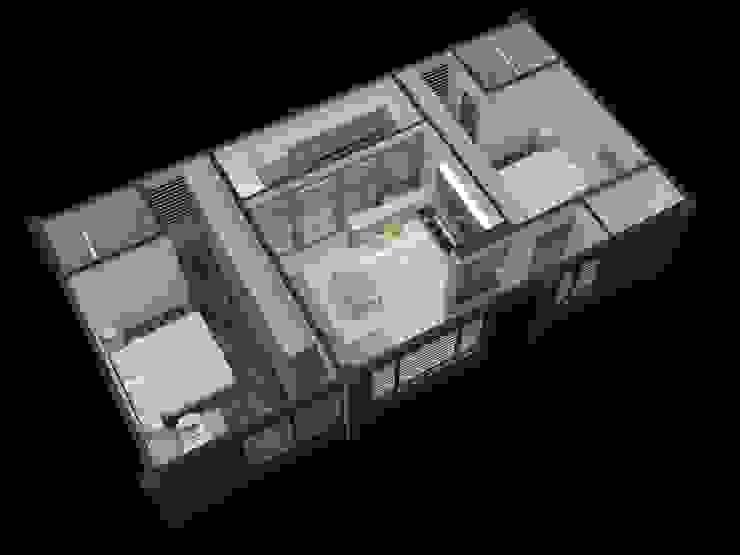 施工前3D示意圖: 斯堪的納維亞  by 懷謙建設有限公司, 北歐風