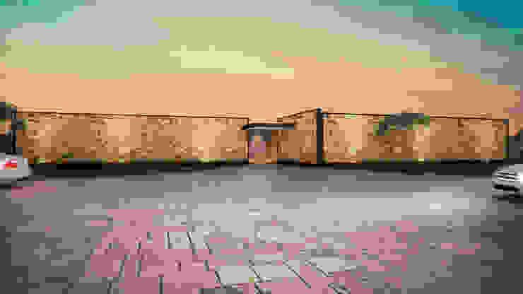 Fachada Casa Mahahual de Speranto Moderno Piedra
