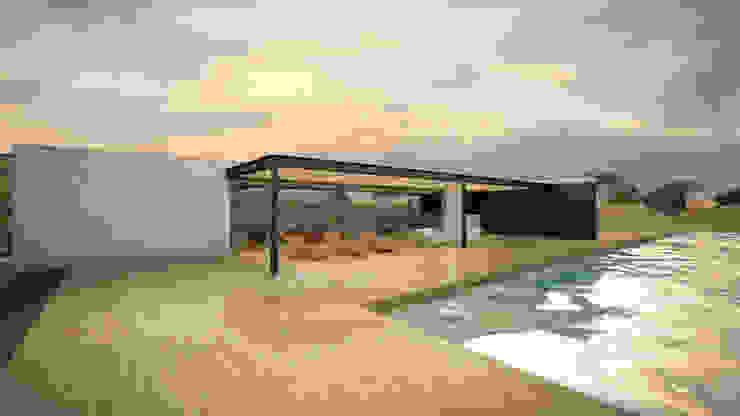 Terraza Área Social de Speranto Moderno Madera Acabado en madera