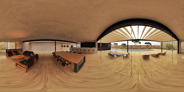 360 view Comedores modernos de Speranto Moderno Madera Acabado en madera