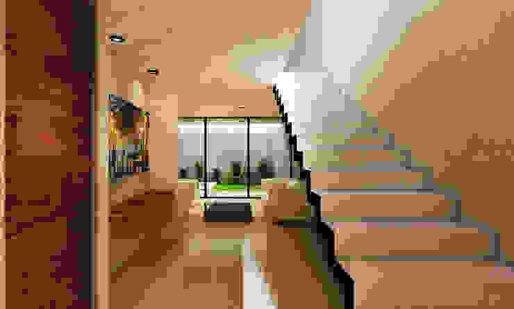 Casa AQUA Speranto Escaleras Concreto Blanco