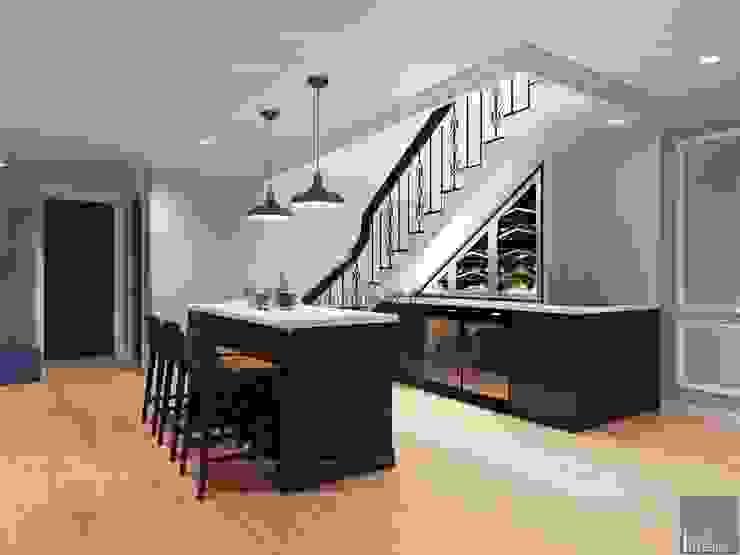 Thiết kế nội thất biệt thự 3 tầng sang trọng với phong cách hiện đại - ICON INTERIOR Nhà bếp phong cách hiện đại bởi ICON INTERIOR Hiện đại
