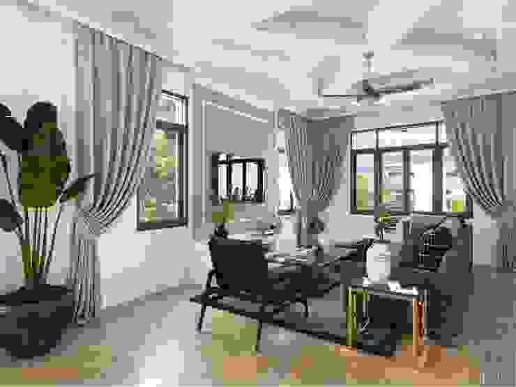 Thiết kế nội thất biệt thự 3 tầng sang trọng với phong cách hiện đại – ICON INTERIOR bởi ICON INTERIOR Hiện đại