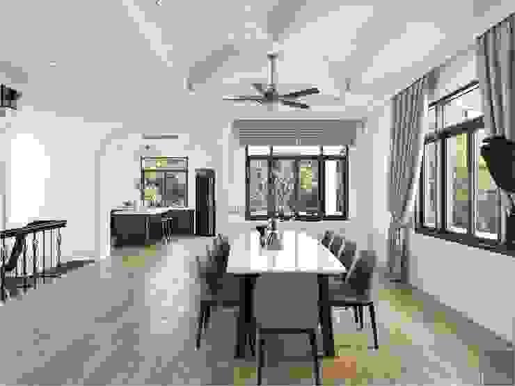 Thiết kế nội thất biệt thự 3 tầng sang trọng với phong cách hiện đại – ICON INTERIOR Phòng ăn phong cách hiện đại bởi ICON INTERIOR Hiện đại