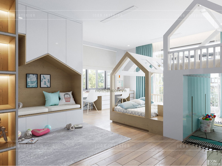 Thiết kế nội thất biệt thự 3 tầng sang trọng với phong cách hiện đại – ICON INTERIOR Phòng trẻ em phong cách hiện đại bởi ICON INTERIOR Hiện đại