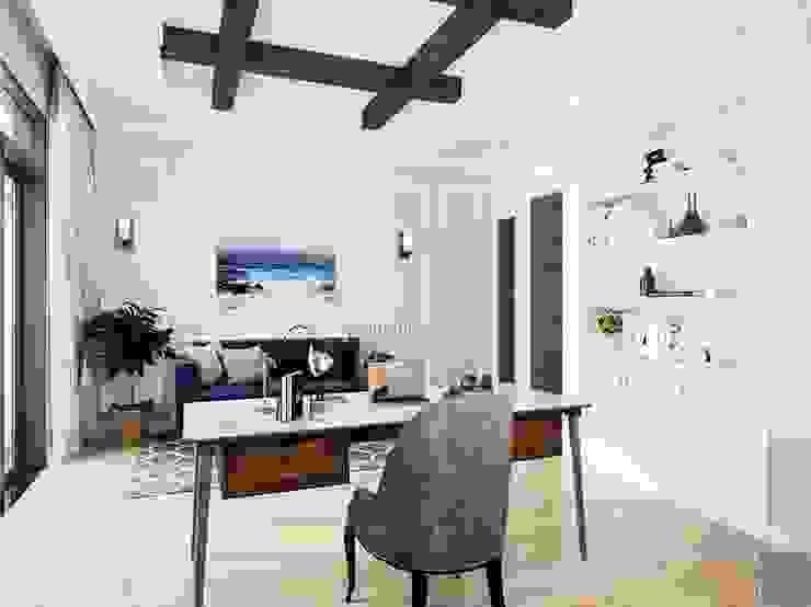 Thiết kế nội thất biệt thự 3 tầng sang trọng với phong cách hiện đại – ICON INTERIOR Phòng học/văn phòng phong cách hiện đại bởi ICON INTERIOR Hiện đại