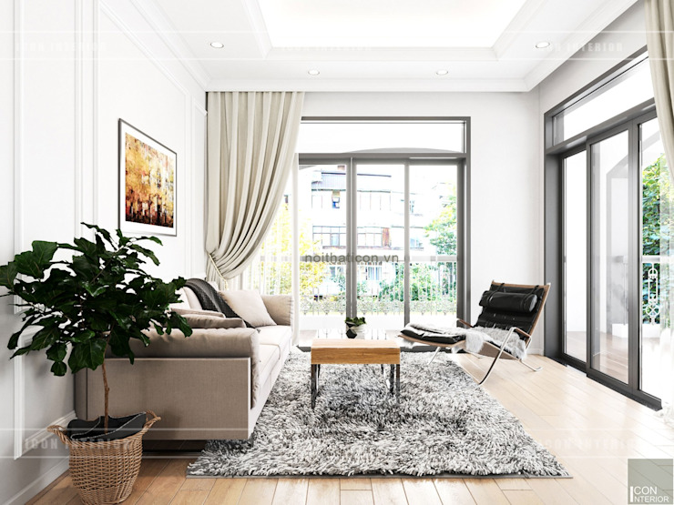 Thiết kế nội thất biệt thự 3 tầng sang trọng với phong cách hiện đại – ICON INTERIOR Phòng ngủ phong cách hiện đại bởi ICON INTERIOR Hiện đại