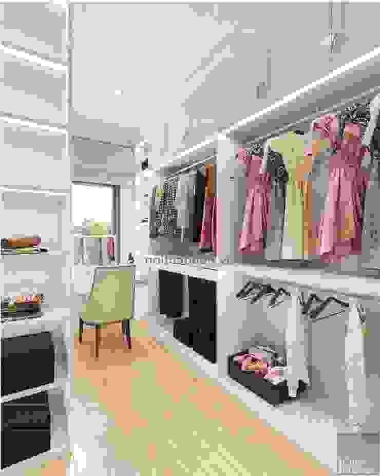 Thiết kế nội thất biệt thự 3 tầng sang trọng với phong cách hiện đại – ICON INTERIOR Phòng thay đồ phong cách hiện đại bởi ICON INTERIOR Hiện đại