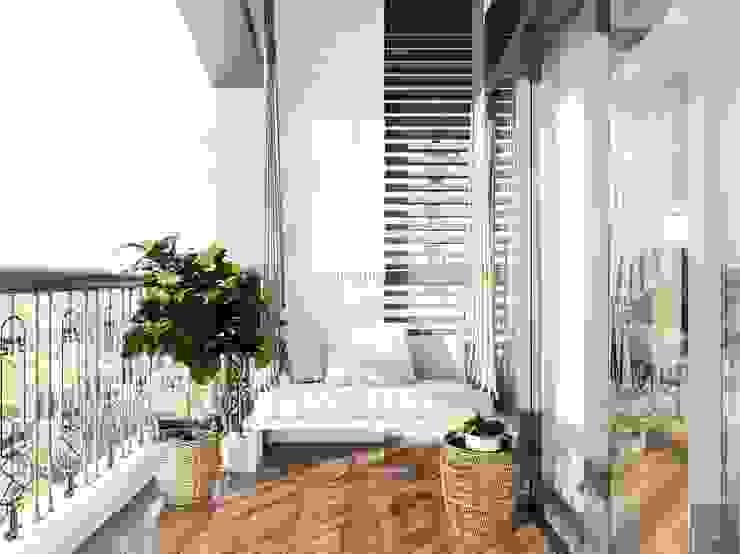 Thiết kế nội thất biệt thự 3 tầng sang trọng với phong cách hiện đại – ICON INTERIOR Hành lang, sảnh & cầu thang phong cách hiện đại bởi ICON INTERIOR Hiện đại