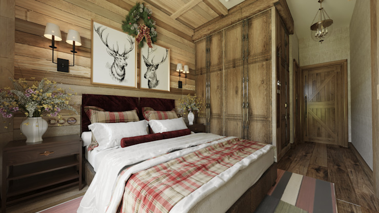 Студия дизайна Натали Хованской Country style bedroom