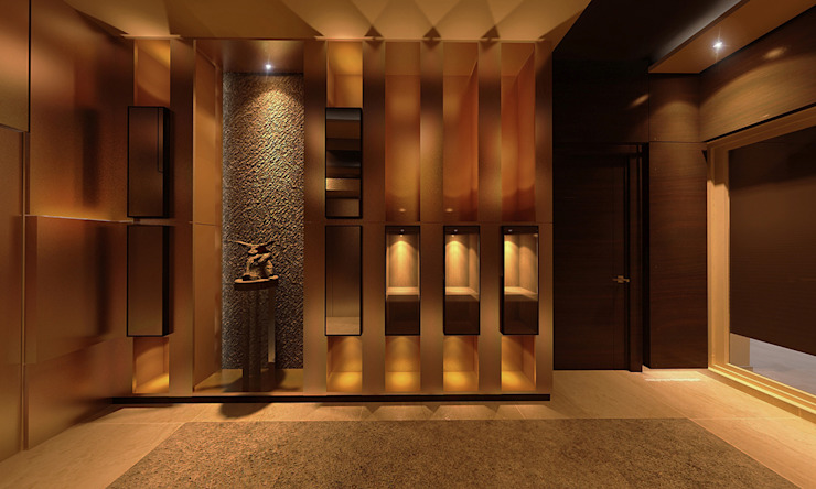 Foyer design Modern corridor, hallway & stairs by Norm designhaus Modern
