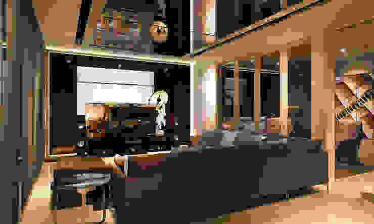 Living hall design by Norm designhaus Modern