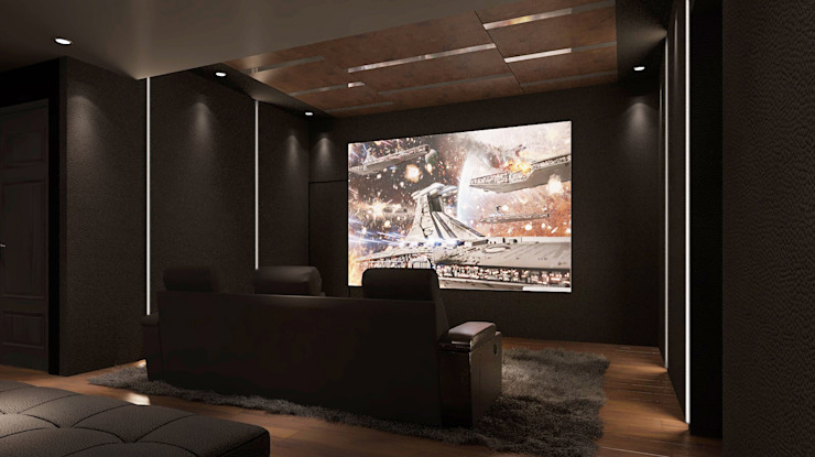 home cinema design, home design Malaysia Modern style media rooms by Norm designhaus Modern