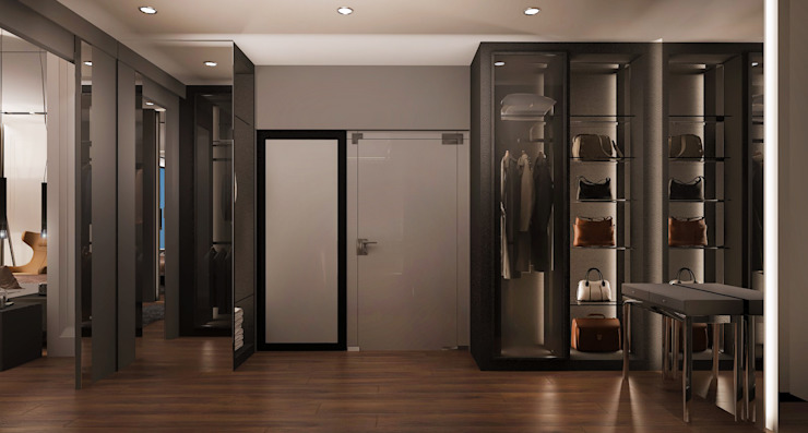 walk in wardrobe, home design Malaysia Modern style dressing rooms by Norm designhaus Modern