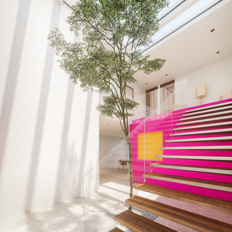 Acceso Pasillos, vestíbulos y escaleras de estilo moderno de Ki-Wi Moderno